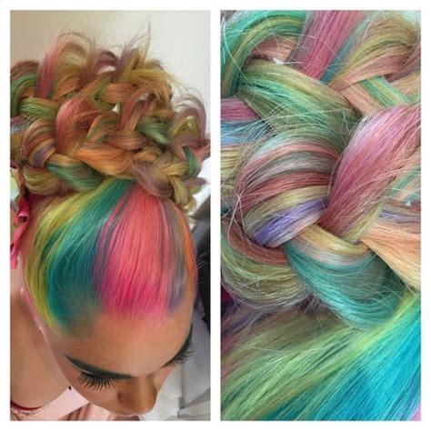 unicorn pastel rainbow hair hair colors ideas