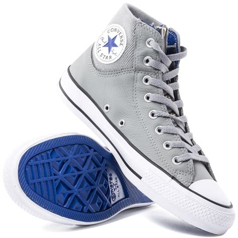 light grey converse converse chuck all ma 1 zip mens trainers in