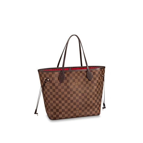 www louisvuitton de neverfull mm damier ebene canvas handtaschen louis vuitton