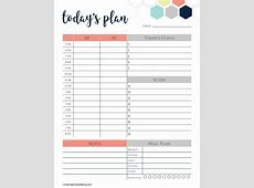 Hourly Daily Planner Printable listmachineprocom
