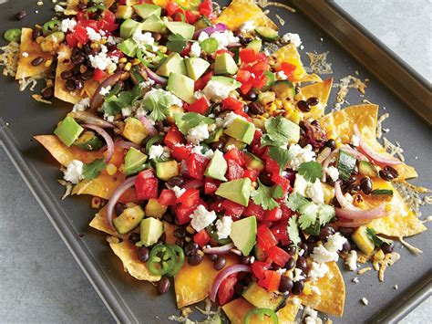 two cheese veggie nachos recipe myrecipes