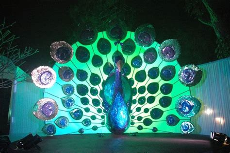 peacock themed wedding stage decoration gabbis