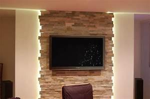 Steinwand Wohnzimmer Tv : wohnzimmer modern schwarz wei ~ Bigdaddyawards.com Haus und Dekorationen