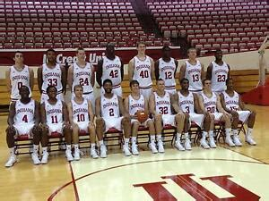 indiana hoosiers iu basketball  team roster photo