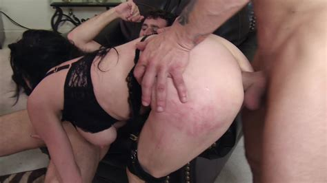 A Sexy Milf Is Having Rough Sex With Two Guys That Are