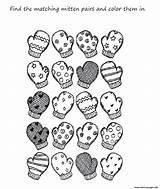 Coloring Winter Mitten Preschool Printable Scarf Mittens Kindergarten Worksheets Clipart Clothes Printables для Adult Worksheet Adults Library зима Preschoolers Popular sketch template