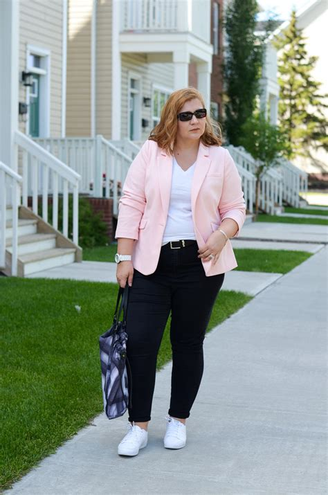 Pastel Blazer and White Sneakers - March and May
