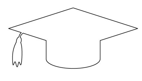 top of graduation cap template graduation cap pattern use the printable outline for