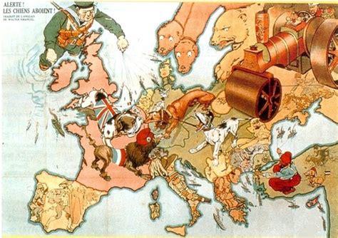 le si鑒e de sarajevo une carte humoristique de 1914 alerte les chiens aboient il y a cent ans