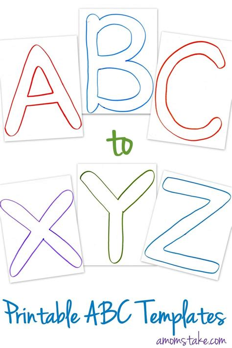 free abc printable templates printable letters and 934 | a8991c6f7273a590446c027691bed7db
