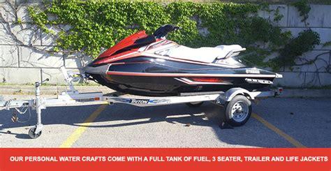 Boating License For Jet Ski Ontario by Jet Ski Rental Toronto Rent Sea Doo Waverunner In Ontario