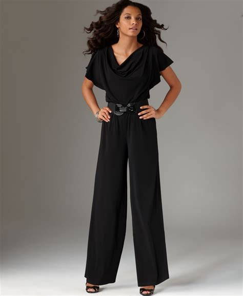 s dress jumpsuits agb womens belted sleeve jumpsuit sizes l xl nwt