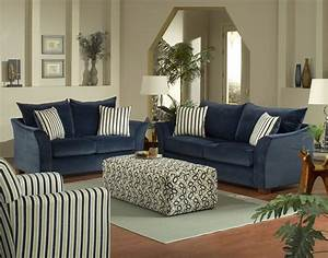 Blue living room sets 2017 grasscloth wallpaper for Blue living room chairs