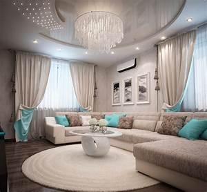 Türkis Deko Wohnzimmer : deko ideen wohnzimmer in t rkis einrichten 19 wohnideen und farbkombinationen ~ Sanjose-hotels-ca.com Haus und Dekorationen