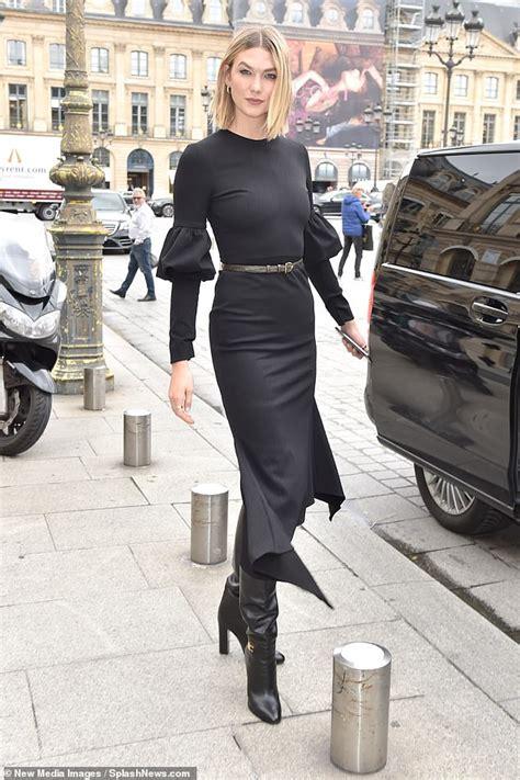 Karlie Kloss Exudes Daytime Glamour Quirky Black Dress