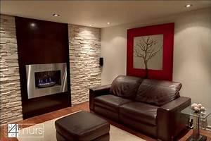 mur pierres et bois cinema maison pinterest salons With deco salon mur pierre