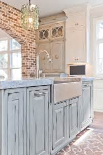 turquoise kitchen island distressed blue kitchen island dove studio cool kitchens blue kitchen island
