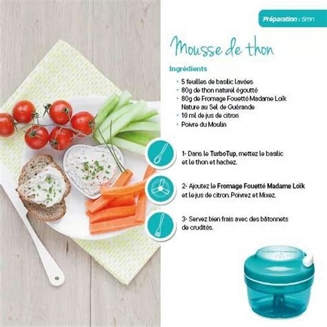 plat a cuisiner facile et rapide tupperware mousse de thon tupperware