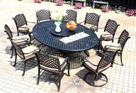 patio set 12pc cast aluminum outdoor furniture darlee