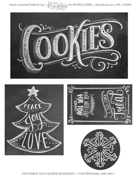 holiday chalkboard labels  lilyandvalcom worldlabel blog