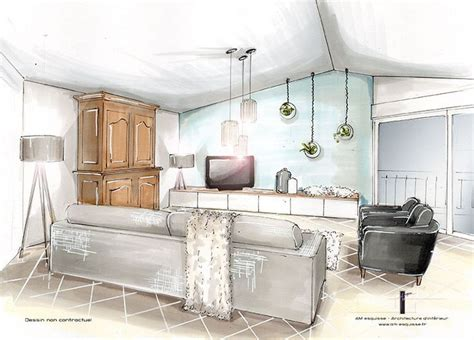 dessiner en perspective une cuisine les 25 meilleures idées concernant croquis d 39 intérieur sur
