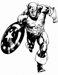 Marvel, Comic, Captain, America, Coloring, Page