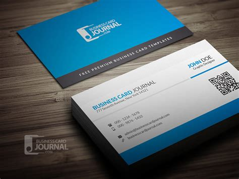 Blue Corporate Business Card Template With Qr Code Business Cards Printing Cape Town Card Queenstown Gold Print Illustrator Template Richmond Bc Embossed Format Plan Sample Video Production