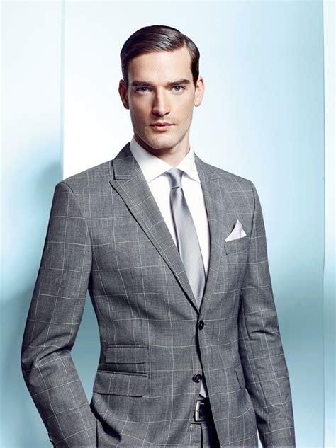 light grey suit light grey window pane check suit tom murphy s formal