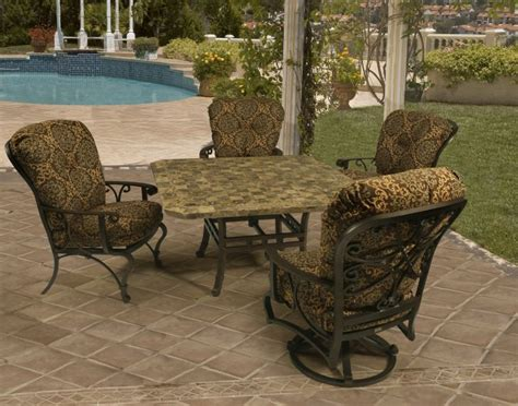 mallin patio furniture mallin calabria cushion dining furniture homes furniture