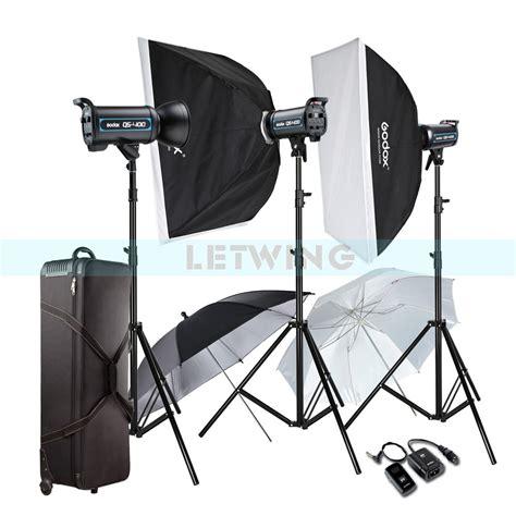 photo studio lighting kit godox 3x 400w professional studio strobe flash light