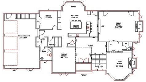 House And Floor Plans by Lake Home Floor Plans Lake House Plans Walkout Basement