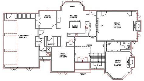 home floor plans with basement lake home floor plans lake house plans walkout basement