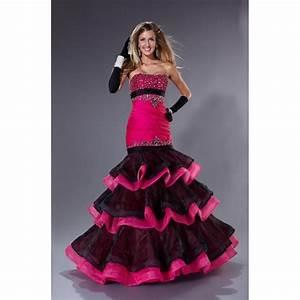 Hot Pink And Black Prom Dresses - Dress FA