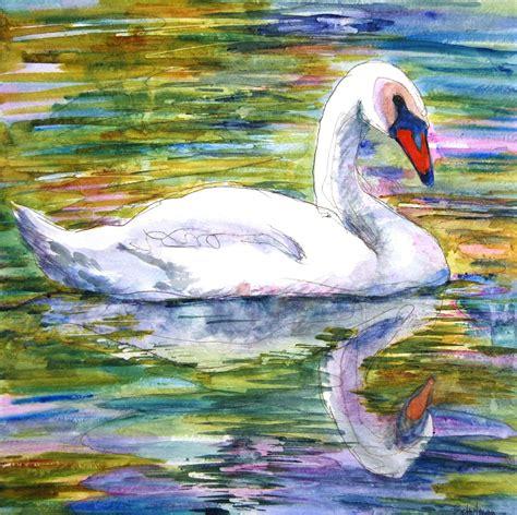 paintings originals for sale original white swan