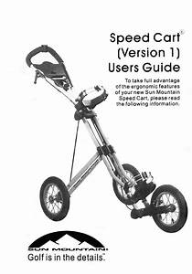Owners Users Guide Manual For Sun Mountain Speed Cart V1