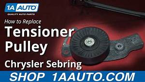 How To Replace Serpentine Belt Tensioner Pulley 01