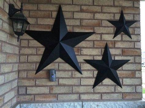 set   large metal tin barn star wall