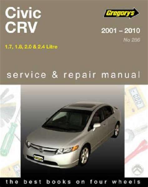 car engine manuals 1989 honda civic free book repair manuals honda civic crv 2001 2010 gregorys service repair manual workshop car manuals repair books