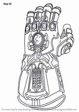 Infinity Gauntlet Avengers Coloring Draw War Step Drawing Pages Drawings Marvel Iron Learn Tutorials Printable Drawingtutorials101 Colorear Sheets Superhero Colouring sketch template