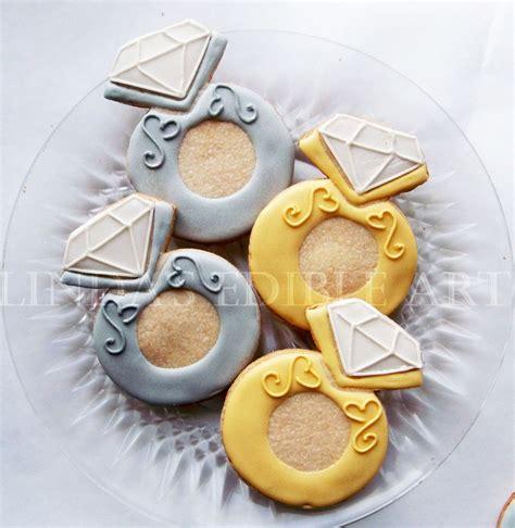 diamond engagement ring cookie 1 dozen 12 celebration