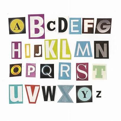 Letters Cut Alphabet Magazine Books Font Quotes