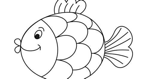 mewarnai gambar ikan untuk anak paud