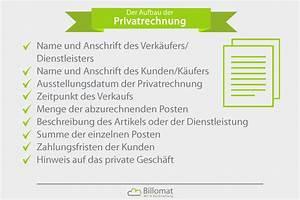 Als Privatperson Rechnung Ausstellen : privatrechnung was ist eine privatrechnung billomat ~ Themetempest.com Abrechnung