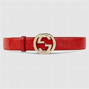Gucci Women - Guccissima belt with interlocking G ...
