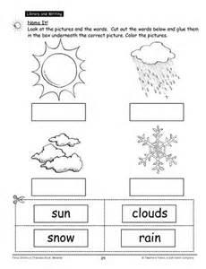 Kindergarten Cut and Paste Weather Worksheet