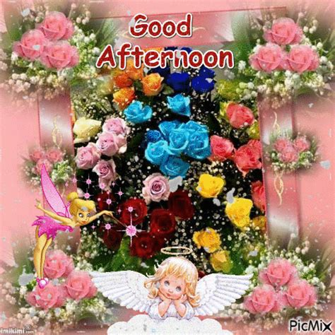 colored roses good afternoon gif pictures