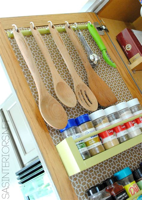 easy kitchen storage ideas kitchen organization ideas for the inside of the cabinet doors jenna burger