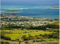 View of Kaneohe, Hawaii A view of Kaneohe city, and a