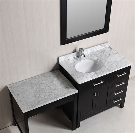 sink bathroom vanity with makeup table 36 quot single sink vanity set in espresso with one