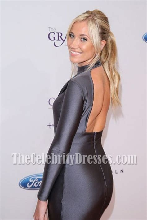 Kristine Leahy Long Sleeves Backless Mermaid Evening Dresses 41st Annual Gracie Awards